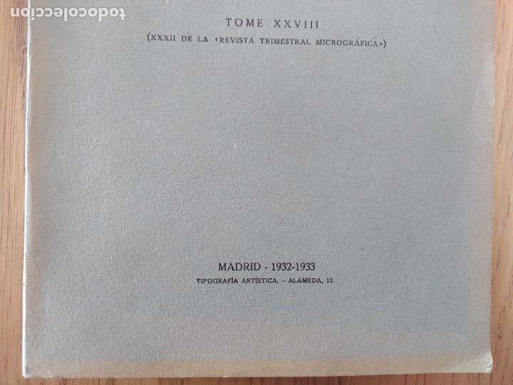 Libros antiguos: Ramon y Cajal. Travaux du laboratoire de recherches biologiques de lUniversité de Madrid. 1933 - Foto 5 - 255558370