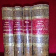 Libros antiguos: TRATADO DE MEDICINA Y CIRUGÍA LEGAL. PEDRO MATA QUINTA EDICIÓN 1874.. Lote 257516665