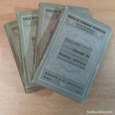 Libros antiguos: PRÉCIS DE TECHNIQUE OPÉRATOIRE. Lote 260867105
