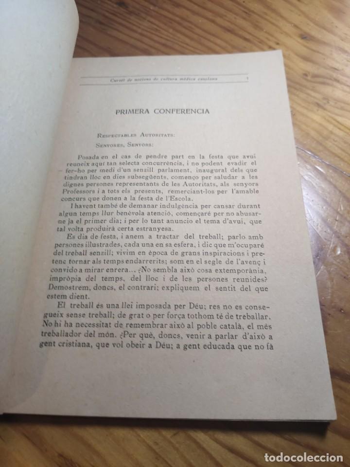 Libros antiguos: Curset de nocions de cultura mèdica casolana. Escola professional i dmèstica de Sant Sadurní dAnoia - Foto 3 - 261305440