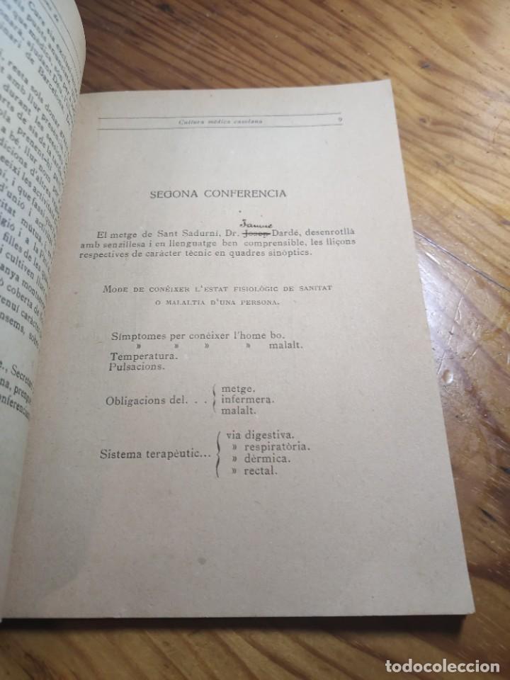 Libros antiguos: Curset de nocions de cultura mèdica casolana. Escola professional i dmèstica de Sant Sadurní dAnoia - Foto 5 - 261305440