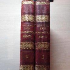 Libros antiguos: MANUAL DE DIAGNOSTICO MEDICO ACHARD, CH. - DEBOVE, M.. Lote 262124370