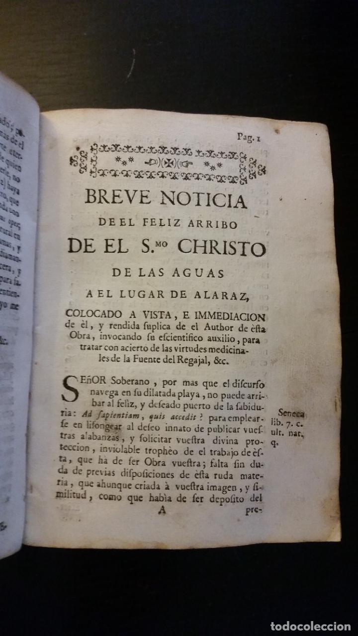 Libros antiguos: 1753 - ESTEBAN Y LECHA - Escrutinio sobre virtudes medicinales de las Aguas de Alaraz y Muñana - Foto 7 - 262462200