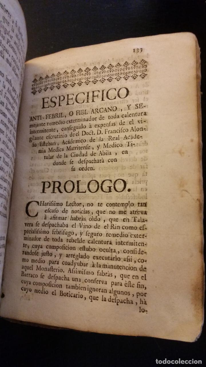 Libros antiguos: 1753 - ESTEBAN Y LECHA - Escrutinio sobre virtudes medicinales de las Aguas de Alaraz y Muñana - Foto 10 - 262462200