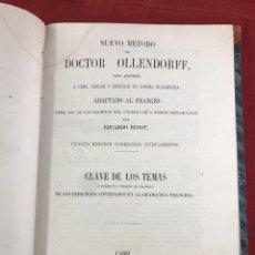 Libros antiguos: NUEVO MÉTODO DEL DOCTOR OLLENDORFF 1856. Lote 262544540