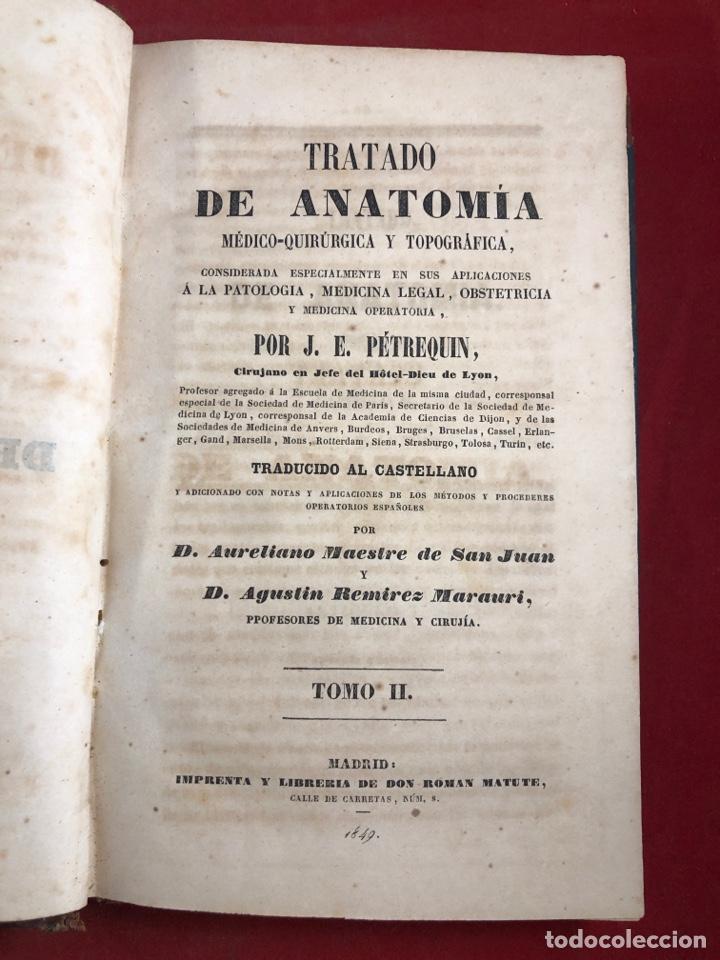 Libros antiguos: Tratado de anatomía - Foto 2 - 262546415
