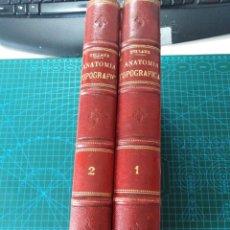 Libri antichi: TRATADO DE ANATOMIA TOPOGRAFICA APLICADA A LA CIRUGIA POR P.TILLAUX. 2 TOMOS. Lote 262994050