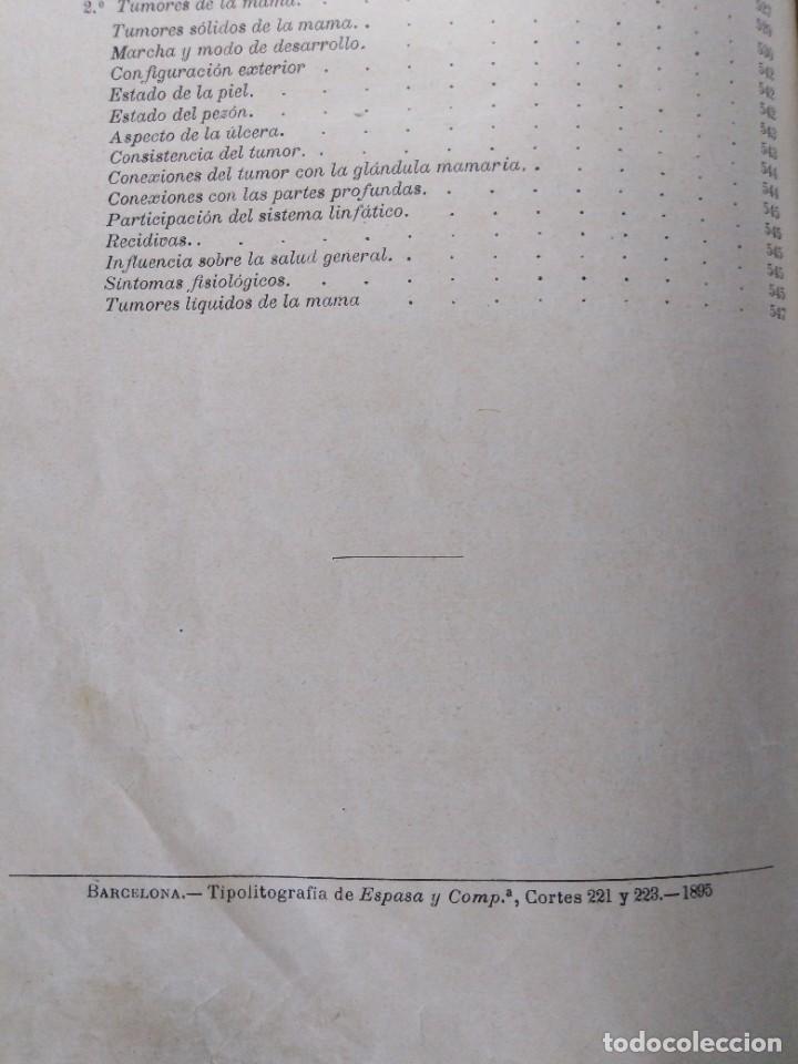 Libros antiguos: Tratado de cirugía clínica. Tillaux. 1895. - Foto 8 - 263252040