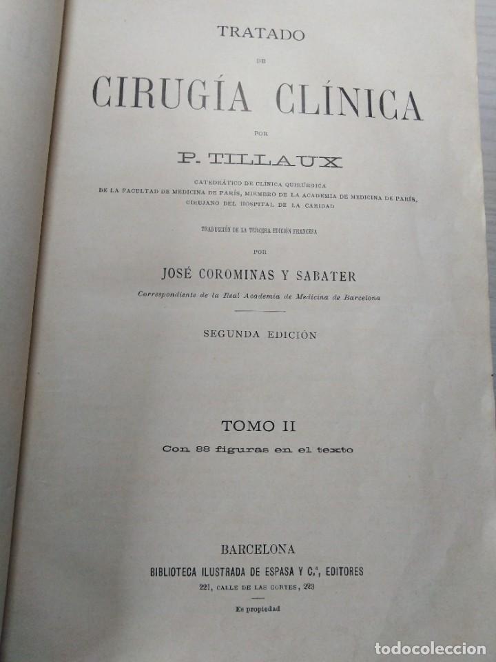 Libros antiguos: Tratado de cirugía clínica. Tillaux. 1895. - Foto 9 - 263252040