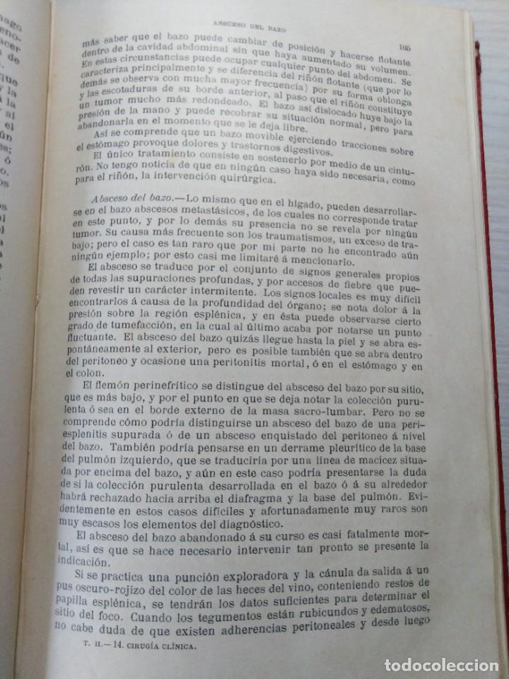 Libros antiguos: Tratado de cirugía clínica. Tillaux. 1895. - Foto 10 - 263252040