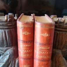 Libros antiguos: MANUAL DE PATOLOGIA GENERAL. COURMONT. CUBELLS BLASCO. 1913. 2 TOMOS. ILUSTRACIONES. PIEL.. Lote 263369955