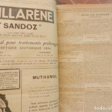 Libros antiguos: LA PRESSE MÉDICALE - REVISTA MÉDICA FRANCESA - ENCUADERNACIÓN AÑO 1926 - VER DESCRIPCIÓN.. Lote 265935773