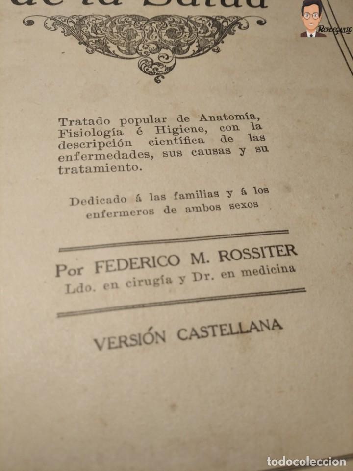 Libros antiguos: GUÍA PRÁCTICO DE LA SALUD (DE FEDERICO M. ROSSITER) AÑO 1913 LIBRO - ILUSTRADO - MEDICINA - SIGLO XX - Foto 3 - 267779614