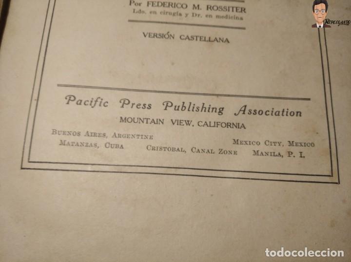 Libros antiguos: GUÍA PRÁCTICO DE LA SALUD (DE FEDERICO M. ROSSITER) AÑO 1913 LIBRO - ILUSTRADO - MEDICINA - SIGLO XX - Foto 4 - 267779614