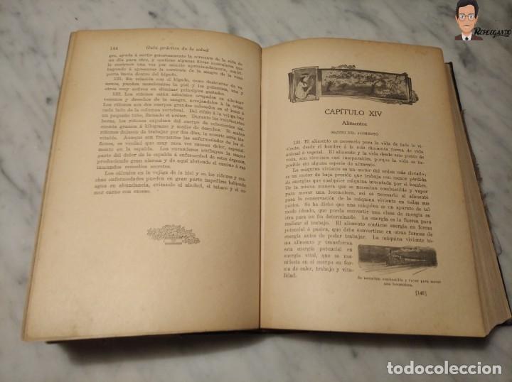 Libros antiguos: GUÍA PRÁCTICO DE LA SALUD (DE FEDERICO M. ROSSITER) AÑO 1913 LIBRO - ILUSTRADO - MEDICINA - SIGLO XX - Foto 7 - 267779614