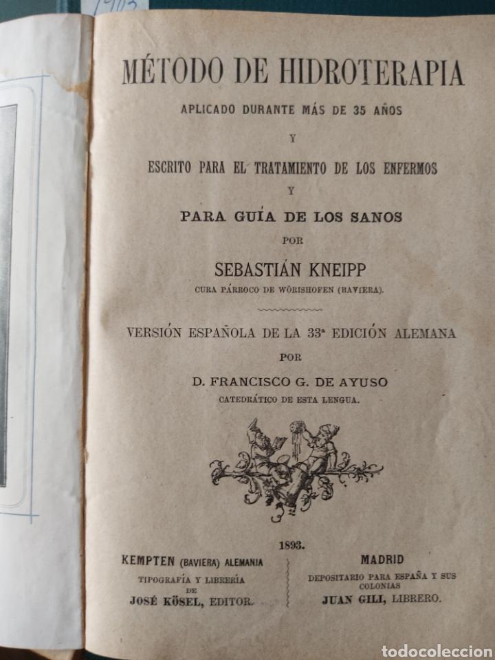 Libros antiguos: Método de hidroterapia Sebastian Kneipp - Foto 4 - 268689989