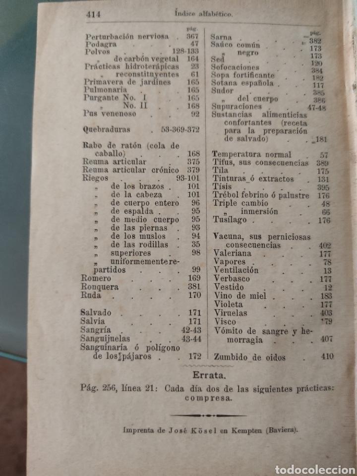 Libros antiguos: Método de hidroterapia Sebastian Kneipp - Foto 8 - 268689989