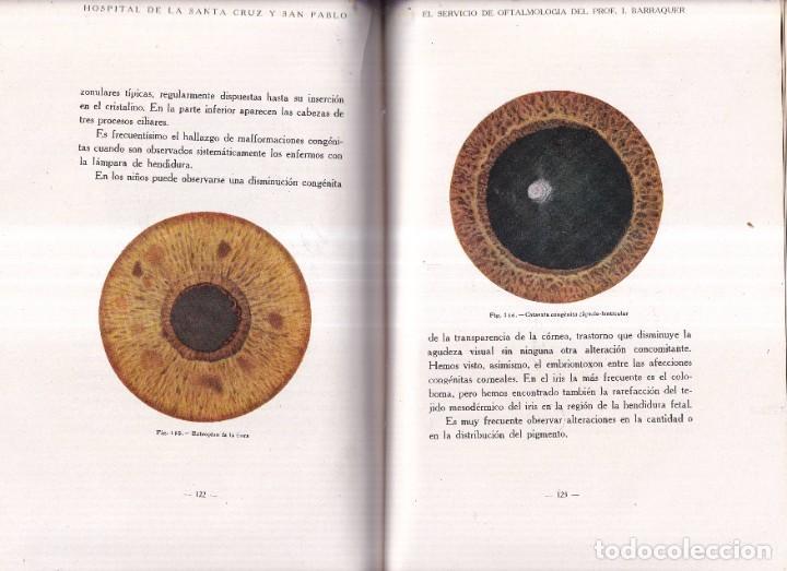 Libros antiguos: EL SERVICIO DE OFTALMOLOGIA - PROFESOR BARRAQUER, SANTA CRUZ, SAN PABLO - ED. SEIX BARRAL 1933 - Foto 3 - 268730899