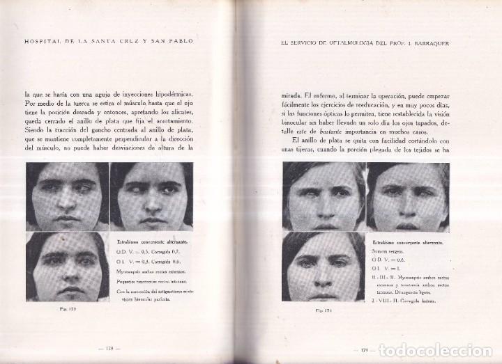 Libros antiguos: EL SERVICIO DE OFTALMOLOGIA - PROFESOR BARRAQUER, SANTA CRUZ, SAN PABLO - ED. SEIX BARRAL 1933 - Foto 4 - 268730899