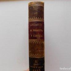 Libros antiguos: LIBRERIA GHOTICA. EDICIÓN LUJOSA EN PIEL DEL ANUARIO DE MEDICINA Y CIRUGIA. 1885. TOMO 1.GRABADOS.. Lote 269328323
