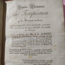 Libros antiguos: NUEVOS ELEMENTOS DE TERAPÉUTICA Y MATERIA MÉDICA 1926 TOMO 4?. Lote 269487893