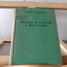 Libros antiguos: NOCIONES DE FISIOLOGÍA Y MICROBIOLOGÍA. 1935. Lote 270554343