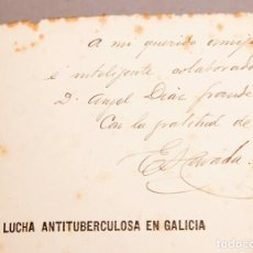 Libros antiguos: ENRIQUE HERVADA : LA LUCHA ANTITUBERCULOSA EN GALICIA - DEDICATORIA AUTÓGRAFA DEL AUTOR. Lote 270619148