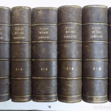 Libros antiguos: LIBRERIA GHOTICA. EXCEPCIONAL OBRA FRANCESA DE BUFFON.1852. OBRA COMPLETA 9 VOLUMENES FOLIO.GRABADOS. Lote 270910503