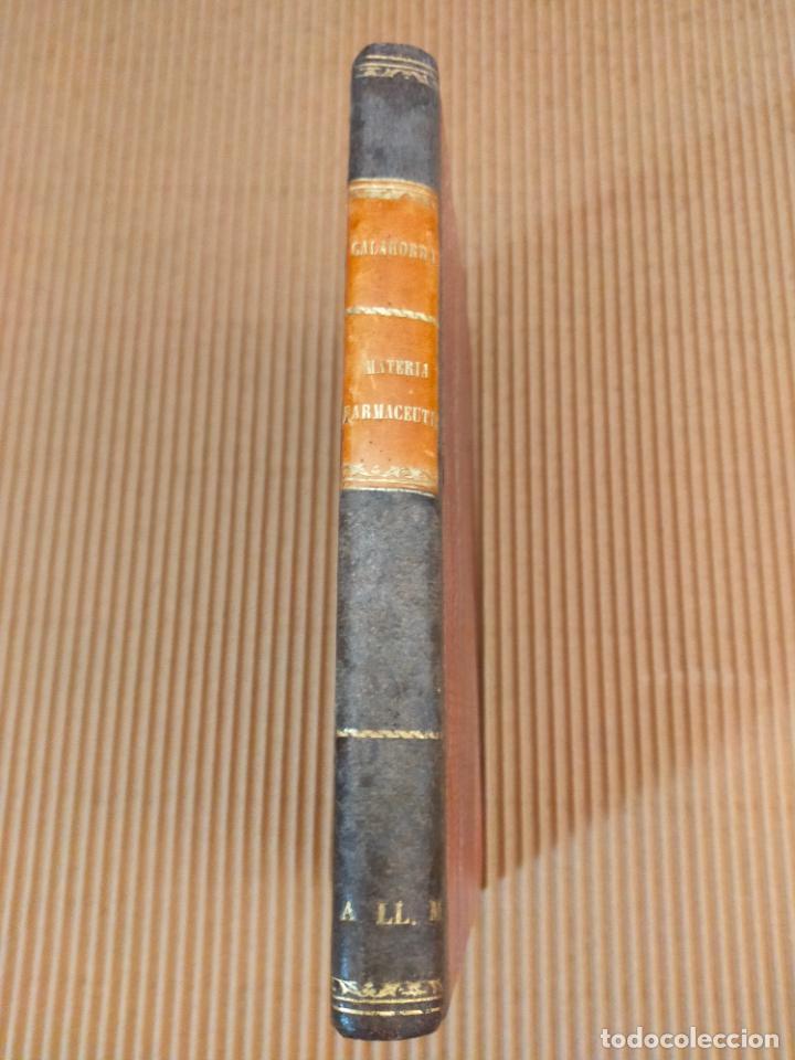 Libros antiguos: Curso elemental de materia farmacéutica 1875 - Foto 2 - 271279278