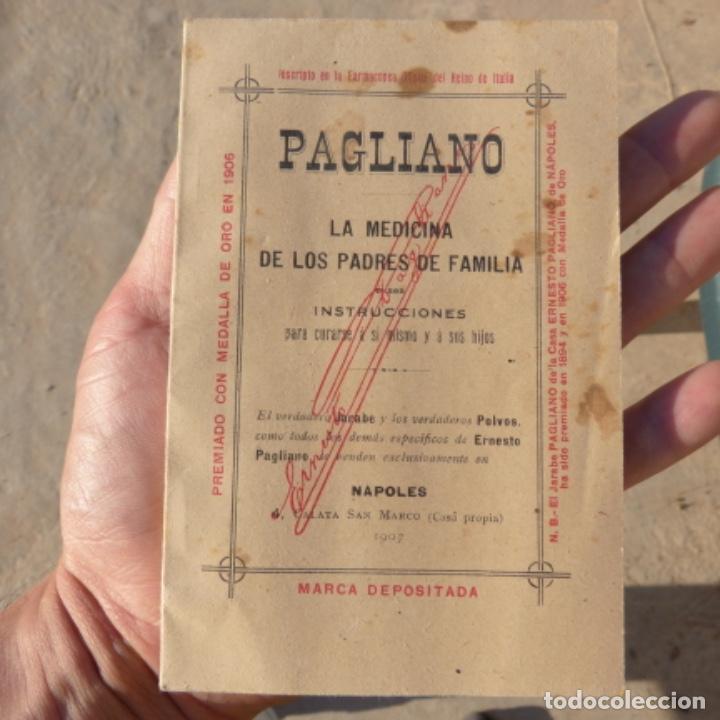 PEQUEÑO LIBRO DE MEDICINA , PAGLIANO , 1906 , INSTRUCCIONES PARA CURARSE A SI MISMO (Libros Antiguos, Raros y Curiosos - Ciencias, Manuales y Oficios - Medicina, Farmacia y Salud)