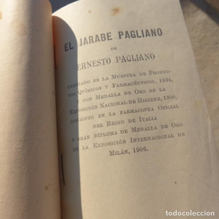 Libros antiguos: Pequeño libro de medicina , pagliano , 1906 , instrucciones para curarse a si mismo - Foto 4 - 275781803