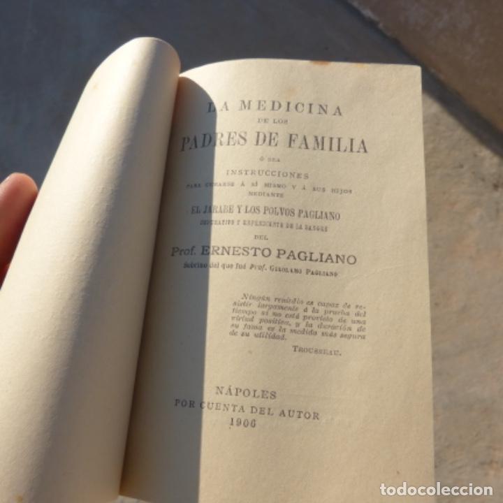 Libros antiguos: Pequeño libro de medicina , pagliano , 1906 , instrucciones para curarse a si mismo - Foto 5 - 275781803