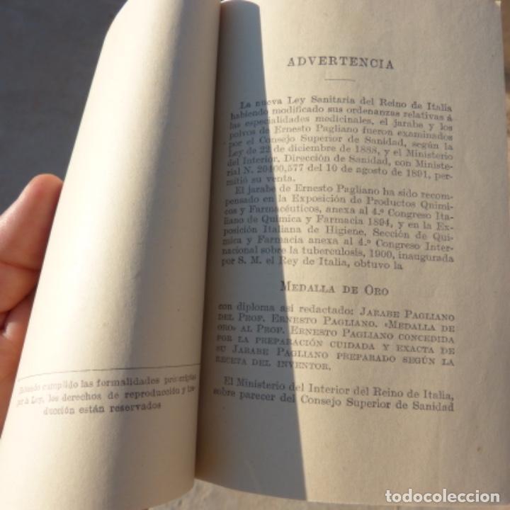 Libros antiguos: Pequeño libro de medicina , pagliano , 1906 , instrucciones para curarse a si mismo - Foto 6 - 275781803