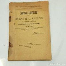 Livros antigos: 1905 CARTILLA AGRÍCOLA ENSEÑANZA DE LA AGRICULTURA EN LAS ESCUELAS DE LAS PROVINCIAS DE MADRID, G. Lote 275793423