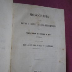 Libros antiguos: LAS AGUAS MEDICINALES DE FUENSANTA BUYERES NAVA 1861 ASTURIAS. Lote 276718498