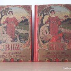 Libri antichi: BILZ. NUEVO SISTEMA DE CURACIÓN NATURAL. 2 TOMOS.1900. Lote 277052178