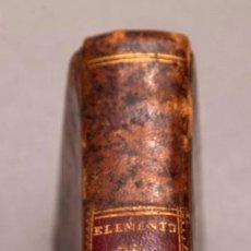 Libros antiguos: ELEMENTOS DE MEDICINA - DR. JUAN BROWN TOMO I - MADRID, IMPRENTA REAL AÑO 1800. Lote 277117783