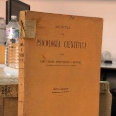 Libros antiguos: PSICOLOGIA CIENTIFICA 1933 APUNTES - JOSE VERDES MONTENEGRO Y MONTORO. Lote 277602898