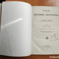 Libros antiguos: TRATADO DE ANATOMÍA SISTEMÁTICA (TOMO SEGUNDO, LIBRO 3) - JULIUS TANDLER - 1928. Lote 277648853
