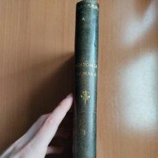 Libros antiguos: TRATADO ELEMENTAL DE ANATOMÍA HUMANA (TOMO 1) - POIRIER, CHARPY Y CUNEO - 1908. Lote 277649683