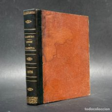 Libros antiguos: 1876 - APUNTES DE TERAPÉUTICA Y ARTE DE RECETAR - LA ALOPATÍA Y LOS GLÓBULOS - SANTIAGO. Lote 278346288