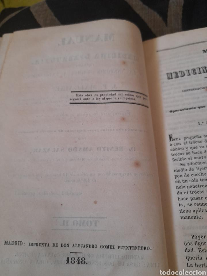 Libros antiguos: Manual de Medicina Operatoria, Tomo II de 1848 ,con 10 láminas desplegables - Foto 2 - 285684658