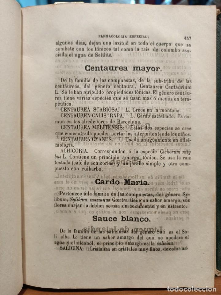 Libros antiguos: APUNTES DE TERAPEUTICA, FARMACOLOGÍA Y ARTE DE RECETAR - 1870 - NARCISO CARBÓ Y DE ALOY - Foto 3 - 288560668
