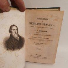 Libros antiguos: TRATADO COMPLETO DE MEDICINA PRACTICA. TOMO I. C.G. HUFELAND. MADRID 1848.. Lote 288708978
