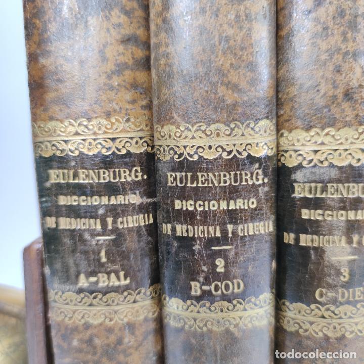 Libros antiguos: Diccionario enciclopédico de Medicina y cirugía prácticas. Dr. A. Enlenburg. Dr. D. Isidoro de Migue - Foto 2 - 290959433