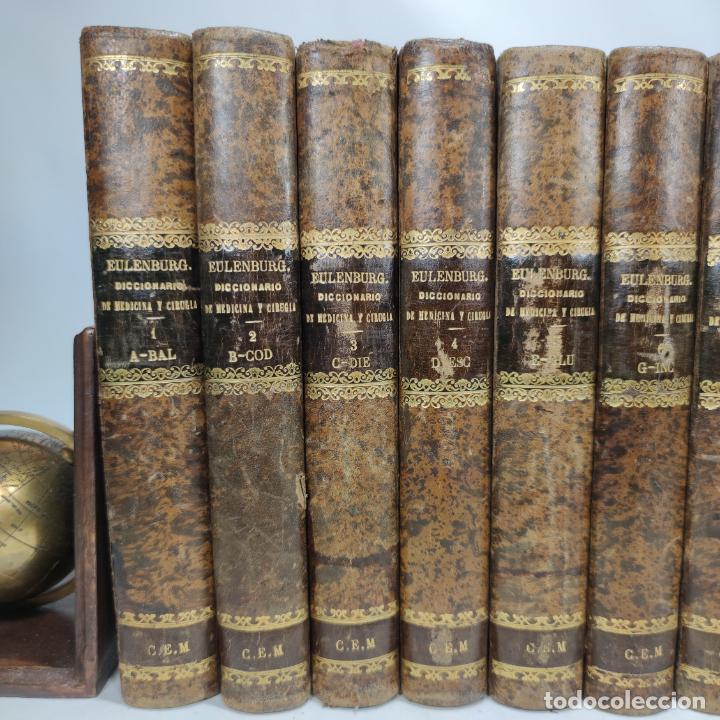 Libros antiguos: Diccionario enciclopédico de Medicina y cirugía prácticas. Dr. A. Enlenburg. Dr. D. Isidoro de Migue - Foto 3 - 290959433