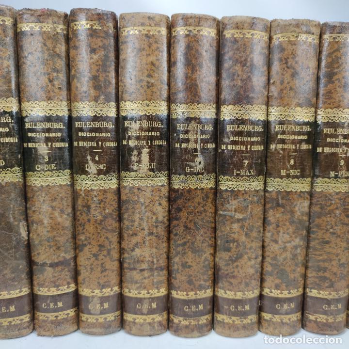 Libros antiguos: Diccionario enciclopédico de Medicina y cirugía prácticas. Dr. A. Enlenburg. Dr. D. Isidoro de Migue - Foto 4 - 290959433