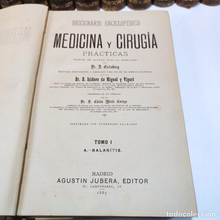 Libros antiguos: Diccionario enciclopédico de Medicina y cirugía prácticas. Dr. A. Enlenburg. Dr. D. Isidoro de Migue - Foto 9 - 290959433