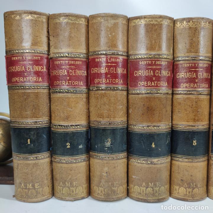 Libros antiguos: Tratado de cirugía clínica y operatoria. A. Le Dentu. Pierre Delbet. 11 tomos. Madrid. 1899. - Foto 2 - 290961708