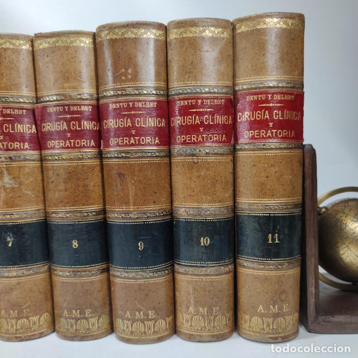 Libros antiguos: Tratado de cirugía clínica y operatoria. A. Le Dentu. Pierre Delbet. 11 tomos. Madrid. 1899. - Foto 4 - 290961708